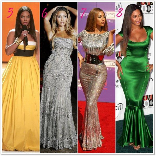 Voici plusieurs robes Elie Saab que Beyoncé a porter lors de cérémonies.Choisissez vos favorites