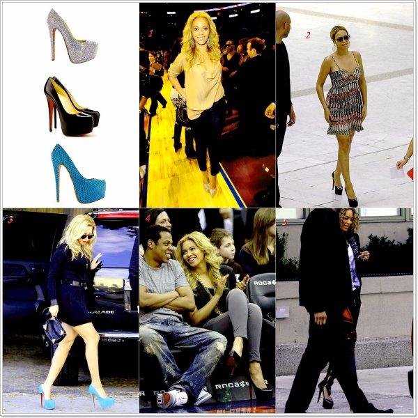 - Beyoncé et ses paires de Daffodil de Christian Louboutin.Avec qu'elle tenue vont t-elles le mieux