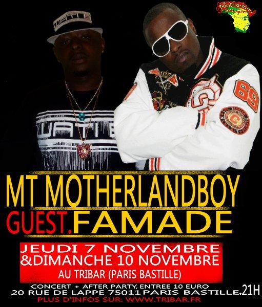 FAMADE EN LIVE LE 7 ET LE 10 NOVEMBRE 2013 A PARIS AU TRIBAR CLUB