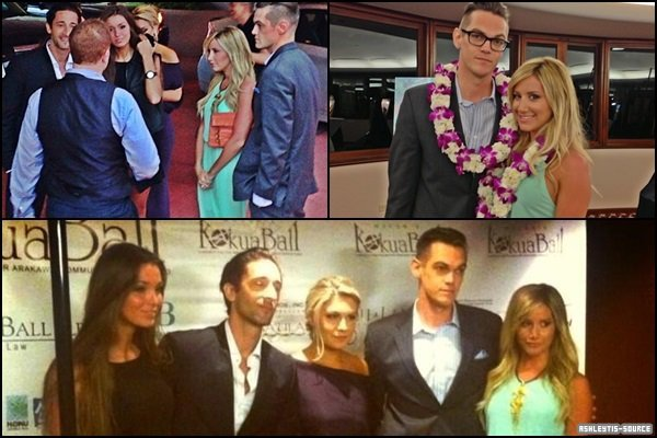 09.03.2013 - Ashley et Chris à la soirée Mayor's Kokua Ball à Hawaii.