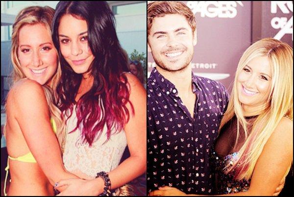 Sondage - Zashley (Zac Efron et Ashley) VS Vashley (Vanessa Hudgens et Ashley) ! Ashley est une amie de longue date de l'ex-couple Zanessa. Mais avec qui préfèrez-vous voir Ashley ?