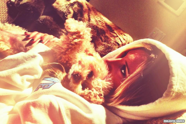 Photo - Magnifique photo personelle d'Ashley et Maui Trop chou ♥