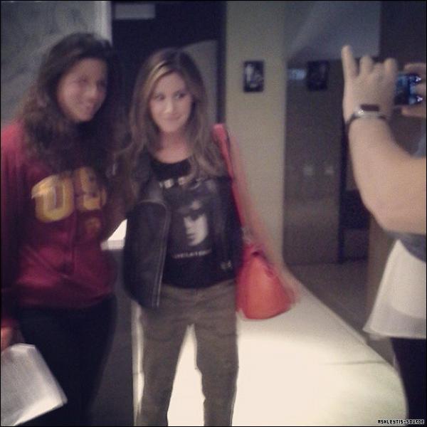 03.04.2013 - Ashley a été aperçu à la projection privée de Scary Movie 5 pour les acteurs et les journalistes.