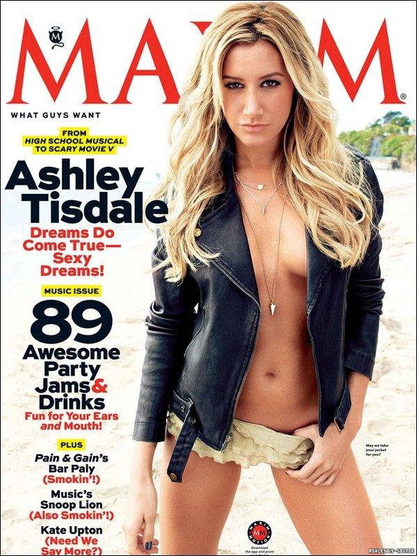 """Couverture et shooting photo pour le magazine MAXIM. """"Ce shoot avec Ashley était une direction très différente pour eux, et ... c'était l'idée d'Ashley!"""""""