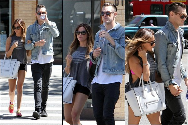 18.04.2013 - Ashley et Christopher faisant du shopping avec Maui dans Los Angeles.