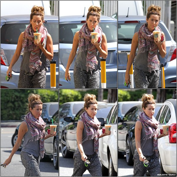 01.05.2013 - Ashley quittant le Starbucks dans Los Angeles.