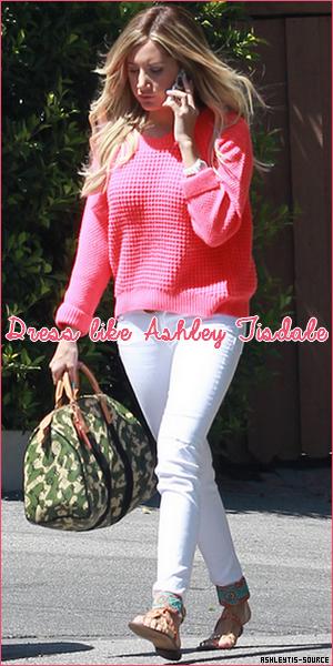 Dress like Ashley Tisdale !Portes la même tenue qu'Ashley, avec des produits abordables pour tout le monde.