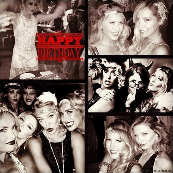 20.07. 2013 - Ashley s'est rendue à la fête d'anniversaire de son amie Julianne Hough.Le thème de la soirée était les années 20, ce qui explique les costumes et les coiffes !