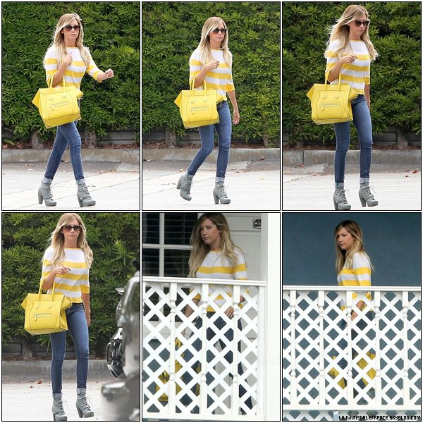 24.07.2013 - Ashley a été vue deux fois dans les bureaux de sa société BGP à Los Angeles pour des rendez-vous.