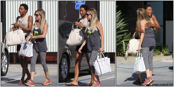 15.08.2013 - Ashley déjeunant avec son ancienne co-star Erica Ash (Scary Movie 5)  dans Studio City.