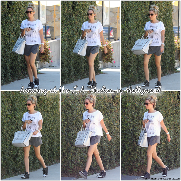 12.09.2013 - Ashley arrivant aux  L.A Studios pour enregistrer Phineas & Ferb, à Hollywood.