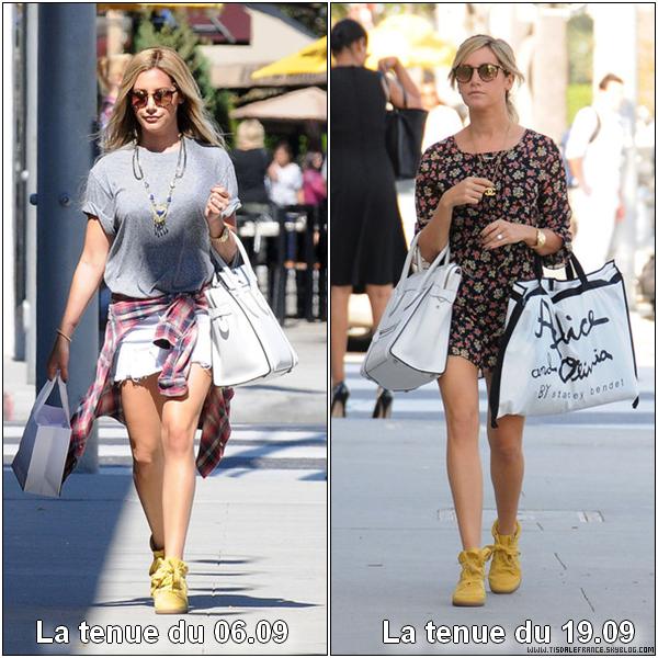 Les baskets compensées jaunes, c'est tendance... Mais avec quelle tenue les préférez-vous ?Ashley porte des chaussures Isabel Marant à 400$ la paire ! Merci à NuageMode.fr