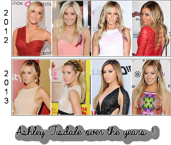 Ashley au fil des années !