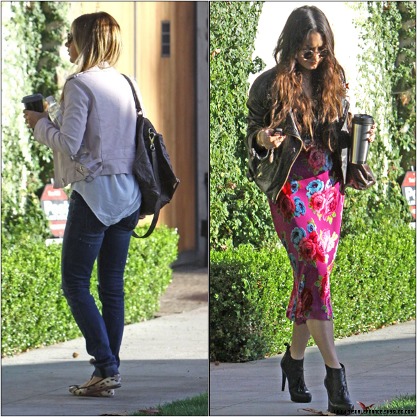 Outside her house in Toluca Lake !