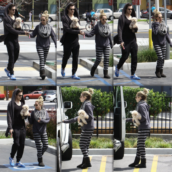 _19.04.02014_ • Ashley, Chris et Maui quittant le Vivian's Millenium Cafe à Studio City