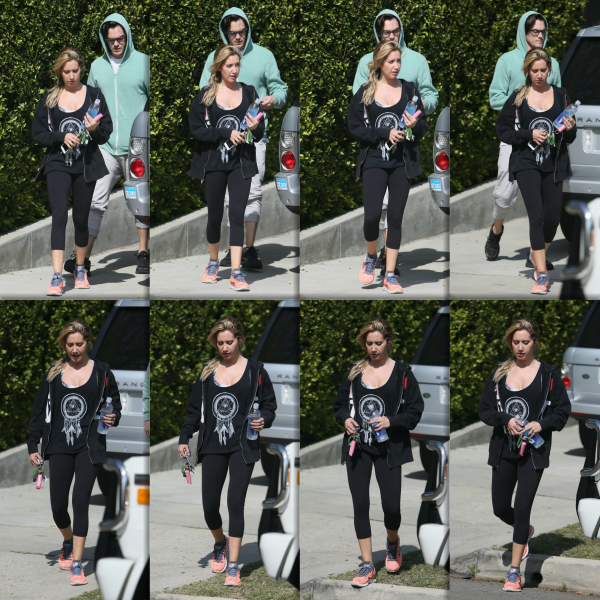 _22.04.2014_ • Ashley réalisant un shooting photo dans les rues de Los Angeles