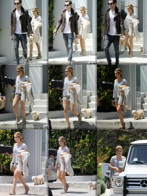 _23.04.2014_ • Ashley, Chris et Maui arrivant à un shooting photo à Los Angeles