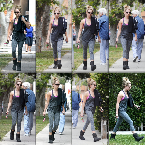 _25.04.2013_ • Ashley quittant son cours de pilates à Studio City
