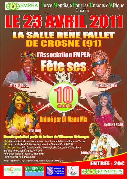 Spectacle pour les 10 ans de l'association FFMPEA