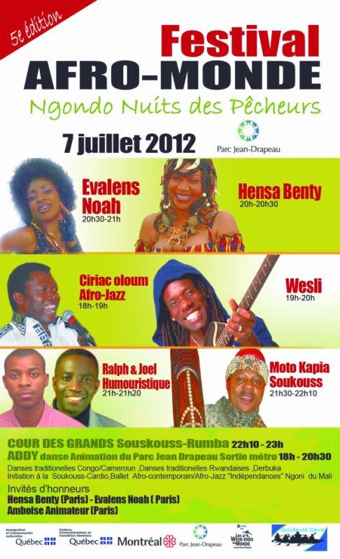 Festival MONTREAL le 7 Juillet !!!!