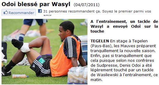 Le petit cadeau de bienvenue de Wasyl.