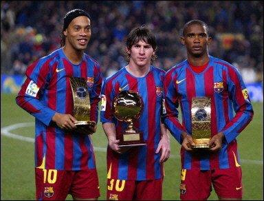 les 3 ancien meilleurs joueur du fc barcelone