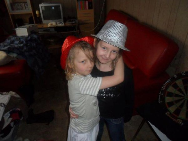 mes niece cataline et floriane