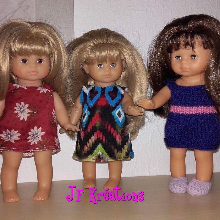 Vêtements de poupées et peluches
