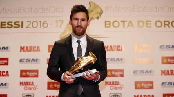 Leo Messi remporte le quatrième Soulier d'Or Européen de sa carrière