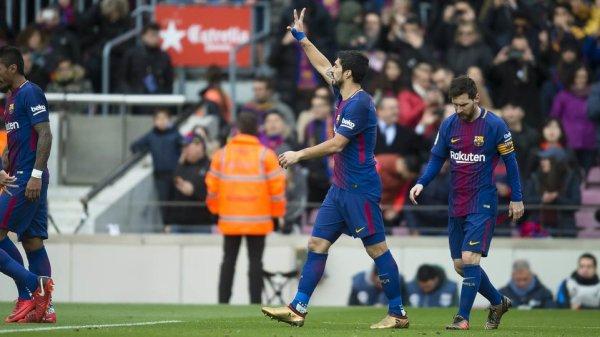 Luis Suárez entre dans le Top 10 des buteurs historiques du FC Barcelone