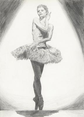 Danseuse akdt folk dessins portraits dumb rising - Danseuse dessin ...