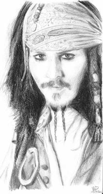 Johnny depp jack sparrow pirates des cara bes akdt - Dessin pirate des caraibes ...