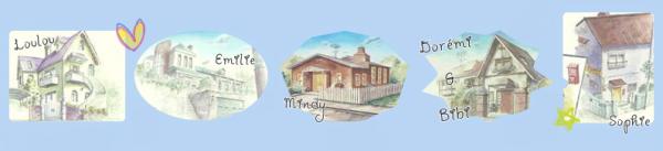 Les maisons des Ojamajos