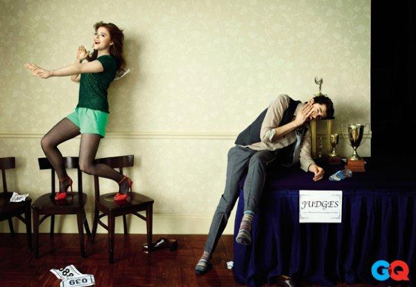 Chloe Grace Moretz et Christopher Mintz-Plasse pour QG