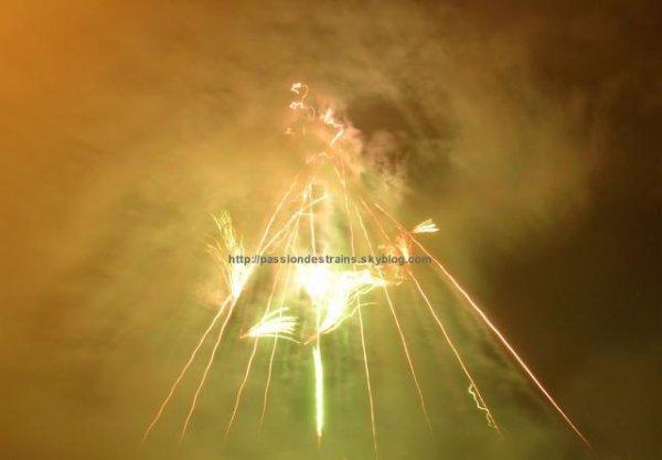 Inauguration du Pont Garonne par un feu d'artifice le 11 Mai 2008