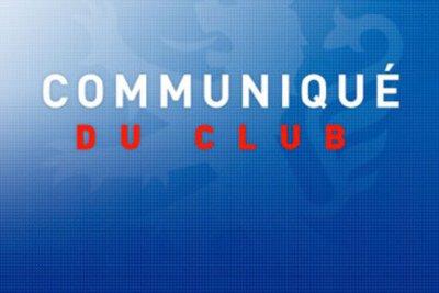 Communiqué Du Club.