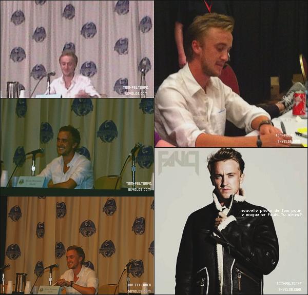 - Samedi 03 Septembre: Tom était encore au DragonCon à Atlanta en Géorgie ou il continue ses conférences. Je suis super fière de la superbe qualité des photos. *Purement ironique* mais Tom reste très beau et bien habillé.-