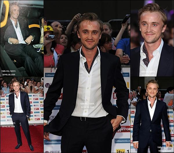 - 3 Octobre 2011: Tom était présent au Pride of Britain Awards à l'hôtel Grosvenor à Londres.Il était accompagné de Jade Gordon, sa petite amie. (elle est a coté de lui dans la voiture, mais on la voit pas :/)-