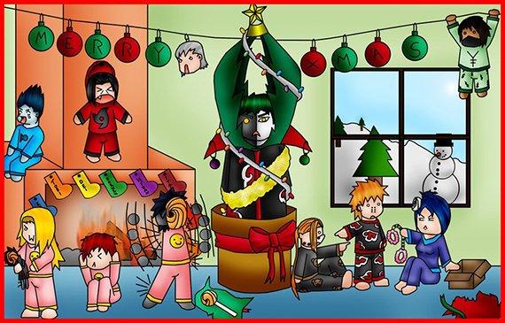 Akatsuki a Noël xD
