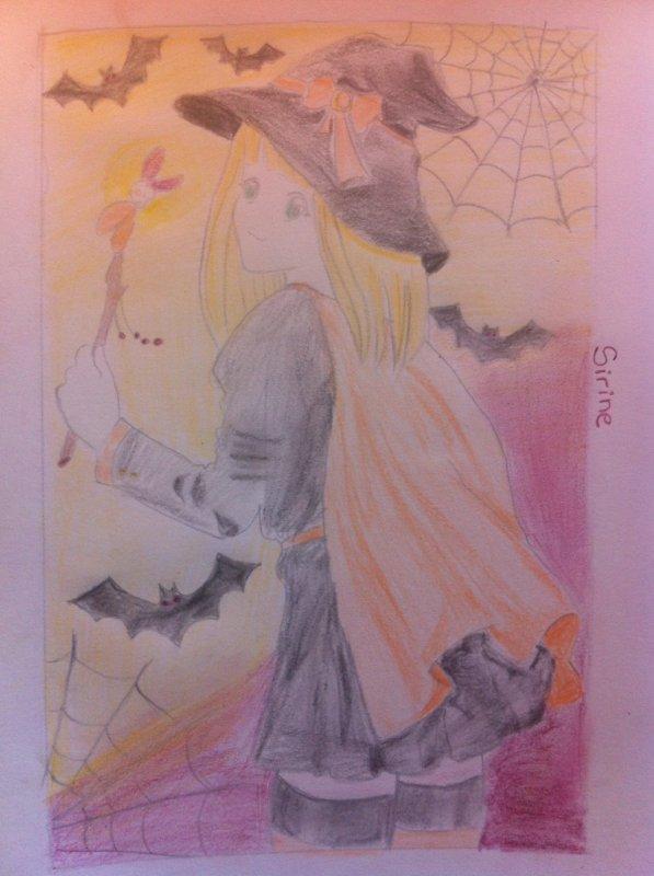 Dessin pour le concour de lili-chaan : thème halloween