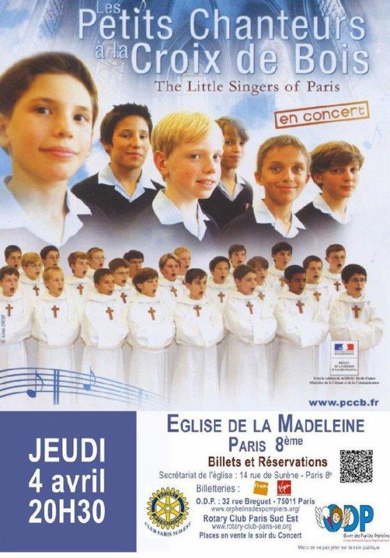 Concert aux profits de nos orphelins