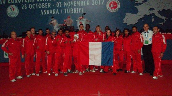 Championnat d'Europe à Ankara en Turquie