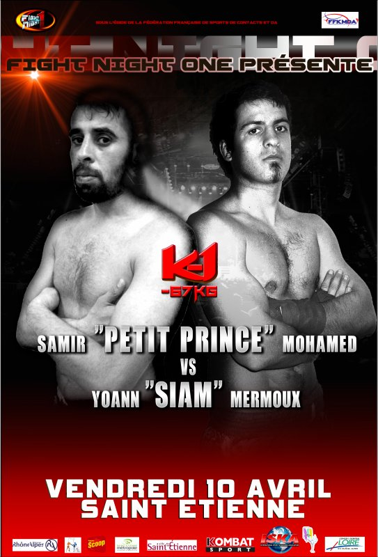 FIGHT NIGHT ONE à SAINT-ETIENNE LE VENDREDI 10 AVRIL 2015