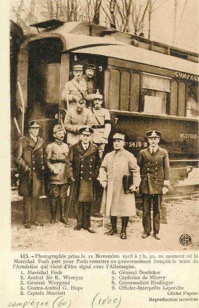 Armsitice 11 novembre 1918