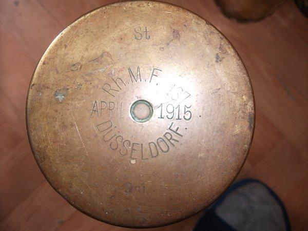 Douille d'obus 77 mm allemande