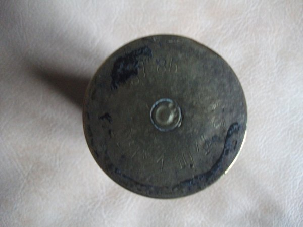 Douille de 37mm gravé et ciselé