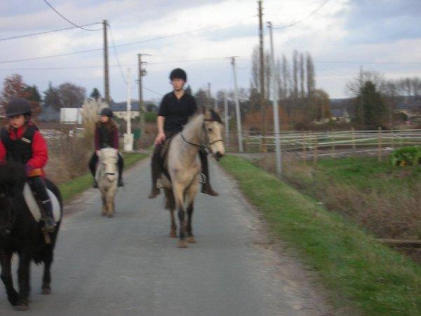 Samedi 15 janvier une aprés-midi a cheval et j'ai monter Bizon