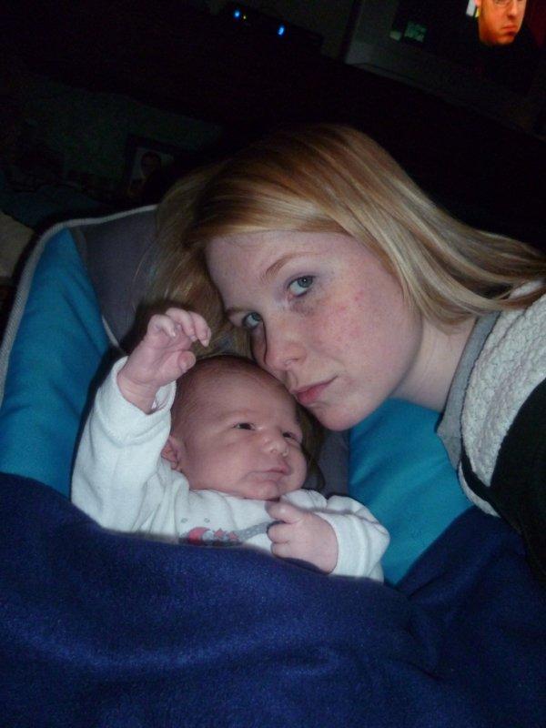 moi et mon tit bébé d'amour je t'aime