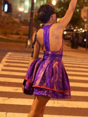 petite robe en pagne violette