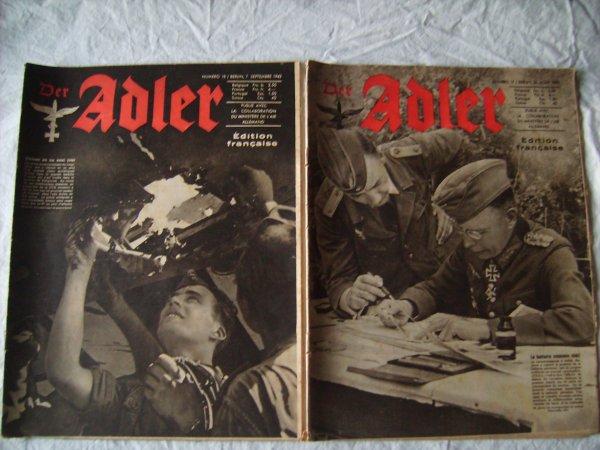 Quelques revues pro allemande bien daté en bon état et complètes